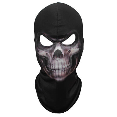 Masquerade Macabre Halloween Party (Halloween Face Mask Scary Horror Grim Reaper Fancy Dress - Lycra Snood)