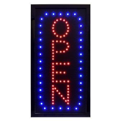 Alpine Industries Vertical Led Business Store Restaurant Shop Open Sign 10x19