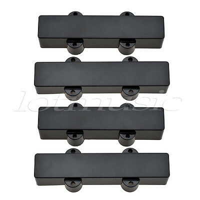 2 pairs black 4 string jazz bass pickup covers neck bridge sealed. Black Bedroom Furniture Sets. Home Design Ideas