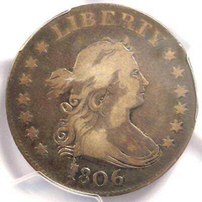 1806 Draped Bust Quarter 25C B-9 - Certified PCGS VF Details - Rare Coin!