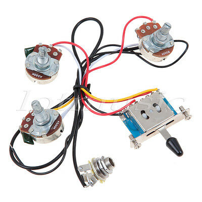 guitar wiring harness kit 5 way switch 500k pots for fender usd 10 99