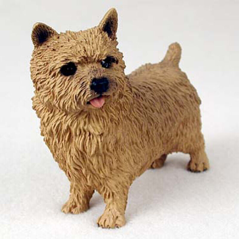 Norwich Terrier Figurine Hand Painted Collectible Statue