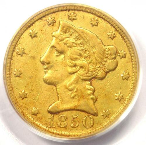 1850-C Liberty Gold Half Eagle $5 (Weak C) - PCGS XF40 (EF40) - Charlotte Coin!