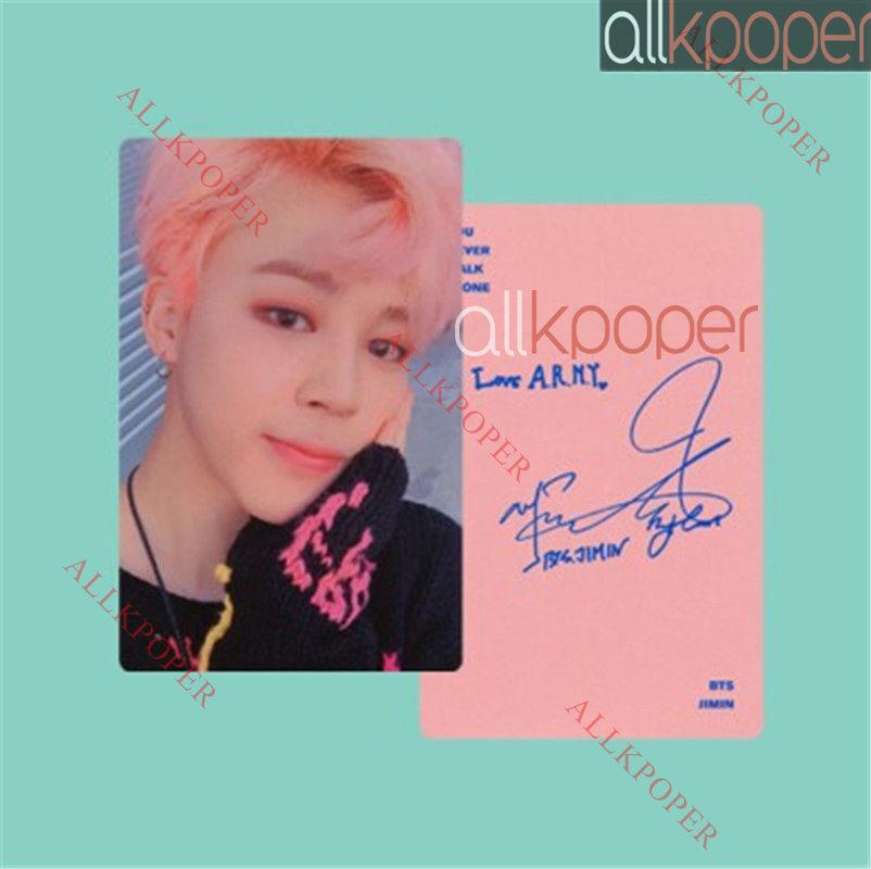 KPOP BTS In Bloom Lomo Card Bangtan Boys Wings YOU NEVER WALK ALONE Jimin Photo
