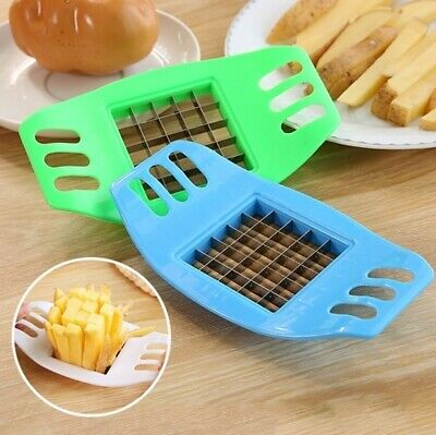 French Fry Potato Chip Cutter Chopper Chipper Blade Vegetable Home Fruit Slicer