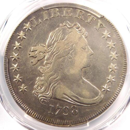 1798 Draped Bust Silver Dollar $1 BB-121 - Certified PCGS VF Detail - Rare Coin!