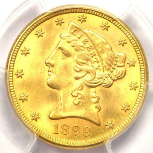 1899-S Liberty Gold Half Eagle $5 Coin - Certified PCGS MS64 - $2,000 Value!
