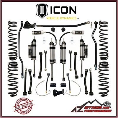 "ICON 4.5"" Stage 5 Suspension System Lift Kit for 07-18 Jeep Wrangler JK K24005"