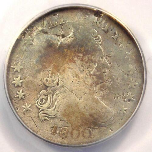 1800 Draped Bust Dime 10C - Certified ANACS VG8 Details - Rare Coin!