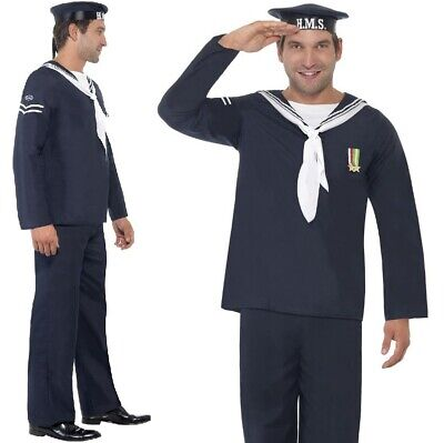 Mens Sailor Fancy Dress Costume Naval Seaman Outfit Navy by Smiffys](Mens Sailor Outfit)