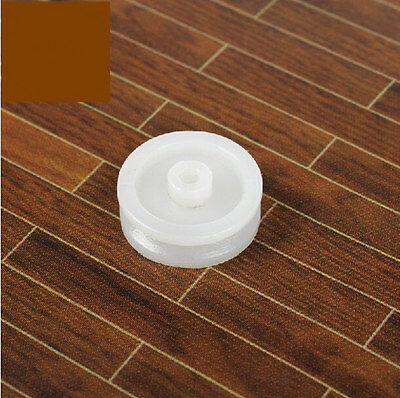 10pcs Plastic Sheave V-belt Pulley 13mm White Timing Pulleys 2mm R Hole For Diy