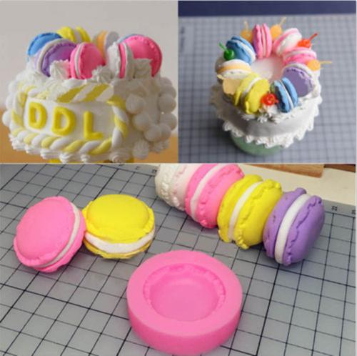 New 3D Chocolate Cake Mold Macaron Mould Fondant Silicone Baking Decoration