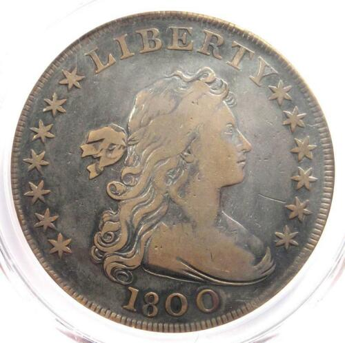 1800 Draped Bust Silver Dollar $1 Coin - Certified PCGS VF Details - Rare Date!