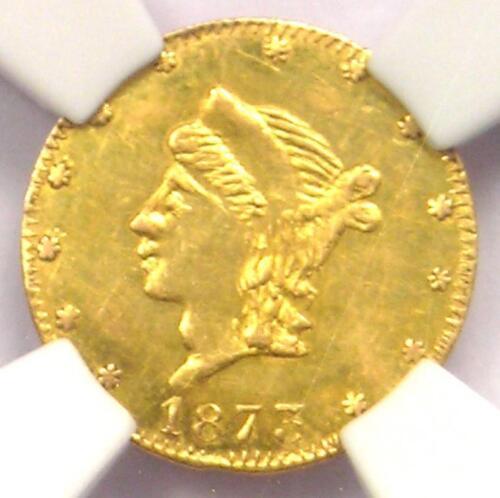 1873 Liberty 25C California Gold Quarter BG-842 R6. NGC UNC (BU MS) - Rarity-6!