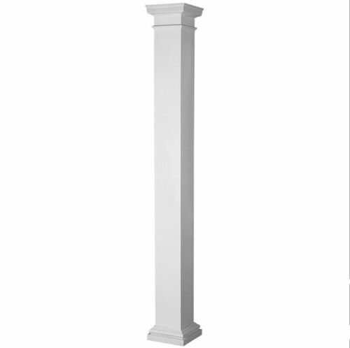FIberglass Square Smooth Non Tapered Column with Tuscan Capital & Base