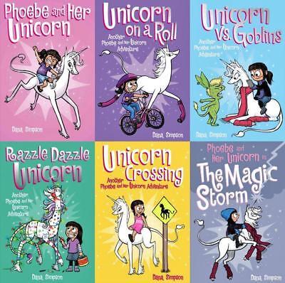 PHOEBE AND HER UNICORN Children's Paperback Series by Dana Simpson Books 1-6