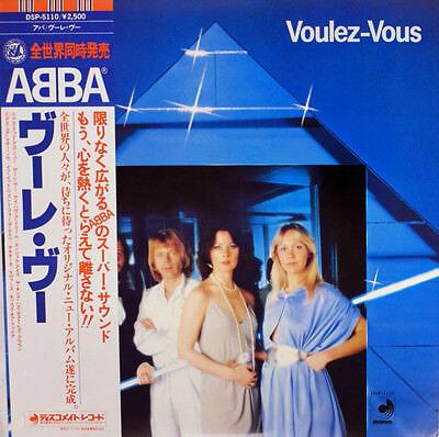 "ABBA ""Voulez-Vous"" rare 1978 Japan ONLY Lp w/Obi/lyrics sheet! Bjorn Benny Frida"