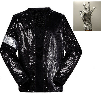 Michael Jackson Costume Dress MJ Billie Jean Jacket Free Billie Jean - Mj Costume
