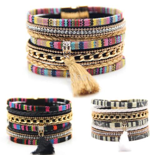 Hot Sale Fashion Women Bangle Jewelry Rhinestone Cuff Bracelet Gift US