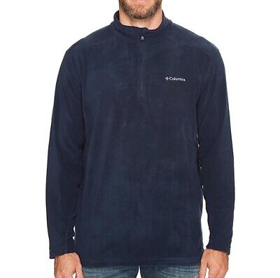 NEW Columbia Men's Klamath Range II 1/2 zip Plus Size 1X, Navy Fleece Pullover Columbia Klamath Range