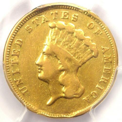 1879 Three Dollar Indian Gold Coin $3 - Certified PCGS Fine Details - Rare Date!