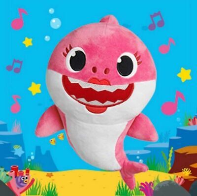 HOT  Baby Shark toy with Music Sound Cute Animal Plush Singing English Doll