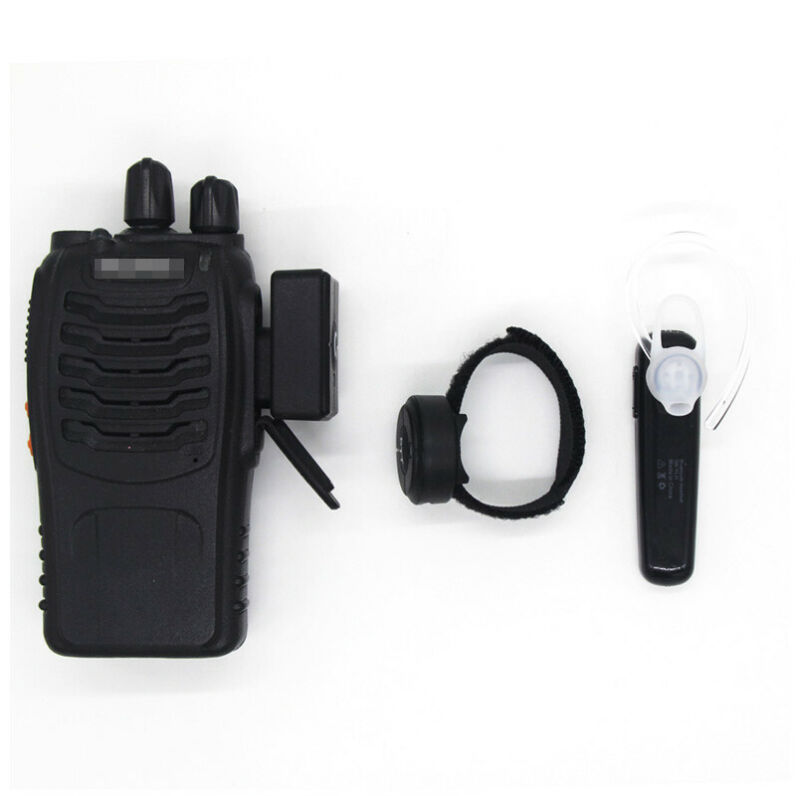 USB Wireless Bluetooth Walkie Talkie PTT Headset for Two Way Radio Baofeng UV-5R