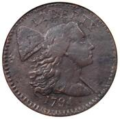 1794 S-64 Liberty Cap Large Cent 1C R5 - ANACS VF Details - Rarity-5 Variety!