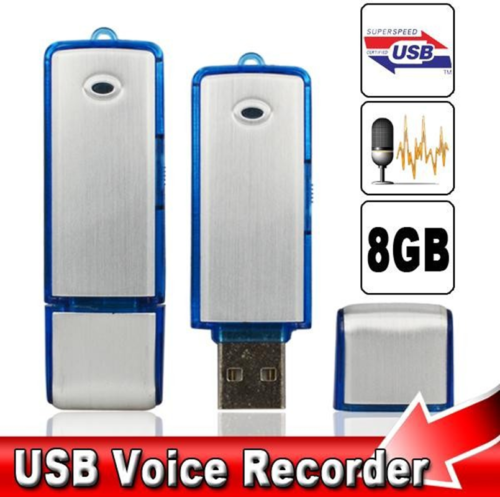 USB Sound Recorder 8GB Voice Recorder Hidden Spy Digital Audio Evidance~