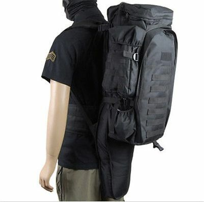 Tactical Assault Bag Pack 4 Rifle SWAT Black Hunting Padded Cactus Jack Backpack