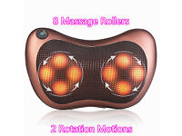 Infrared Heating Massager Home Car Dual-Use Kneading Neck Shoulder Back Body Massage Pillow Gift