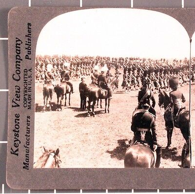 WWI Stereoview card:  Canadian 48th Highlanders of Toronto