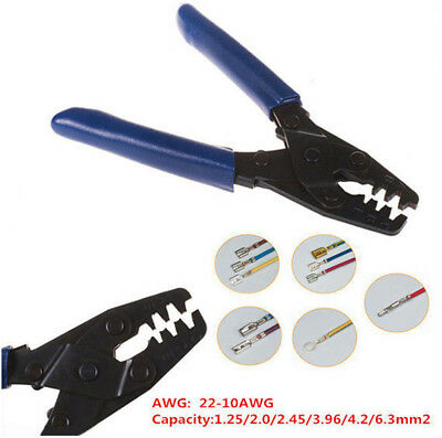 Professional 10-22 Awg Open Barrel Terminal Crimper Tool Wiring Harness Kit