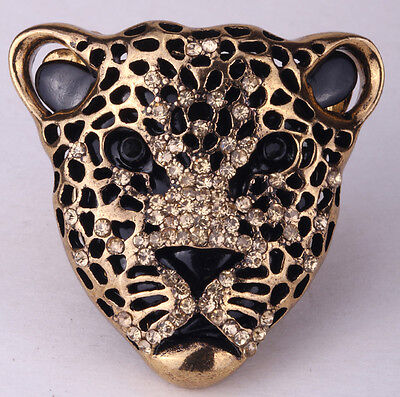- Leopard stretch ring cute animal silk scarf clasp jewelry gifts for women her 1