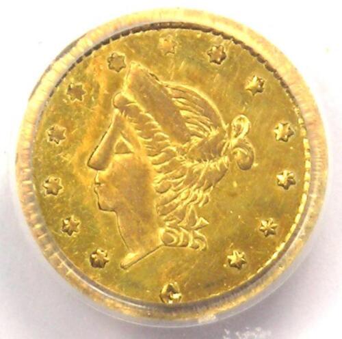 1866 Liberty California Gold Half Dollar 50C BG-1017 R6. PCGS UNC (MS) Rarity-6!
