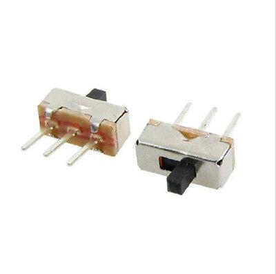 20pcs 3 Pin Ss12d00g3 2 Position Spdt 1p2t Pcb Panel Mini Vertical Slide Switch