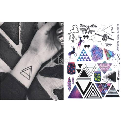 Best Geometric Temporary Tattoos Triangle Tattoos Unisex Body Tattoos US
