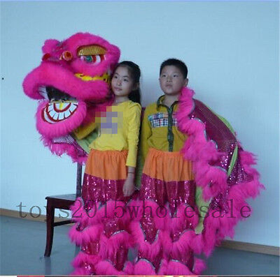Mascot Costume For Kids (Pur Lion Dance mascot Costume pure wool Southern Lion For two kids Advertising)