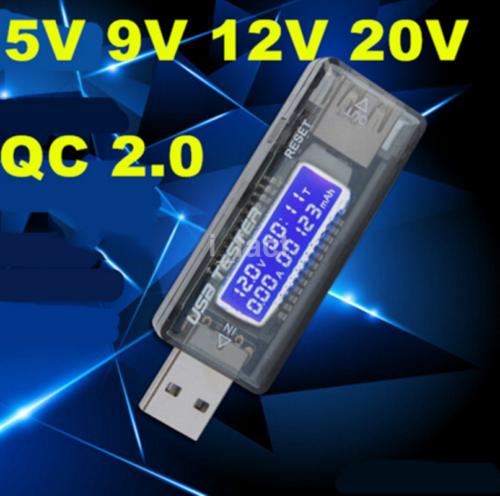 Digital LCD USB Power Current Voltage Monitor Meter Voltmeter Tester Detector
