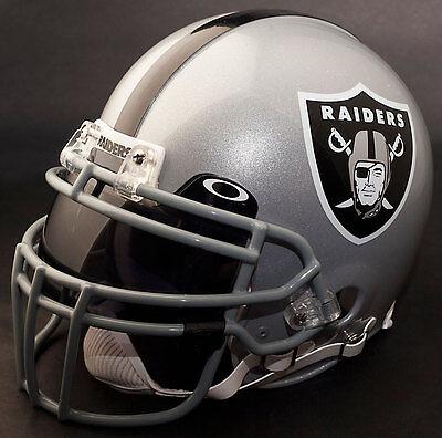 OAKLAND RAIDERS NFL Authentic GAMEDAY Football Helmet w/ OAKLEY Eye Shield Oakland Raiders Authentic Helmet