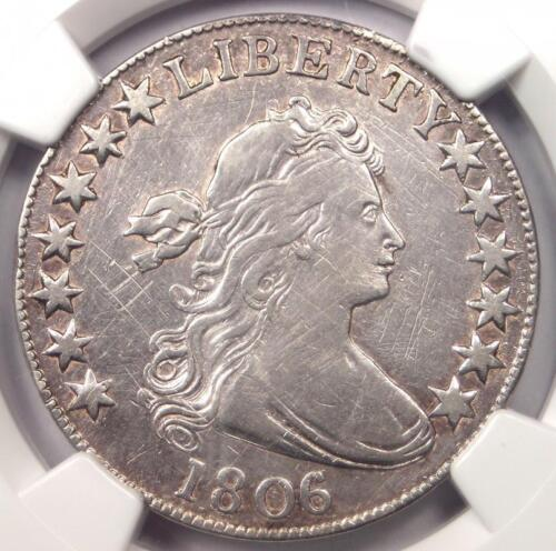 1806 Draped Bust Half Dollar 50C - NGC VF Detail - Rare Certified Coin - Near XF