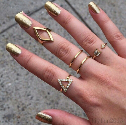 5pcs-Set-Gold-Silver-Plated-Band-Midi-Finger-Knuckle-Stack-Rings-Fashion-New