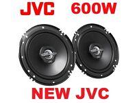 NEW UNIVERSAL JVC 16cm 2 Way 600 Watts Car Van Door Parcel shelf Coaxial Speakers Pair warranty