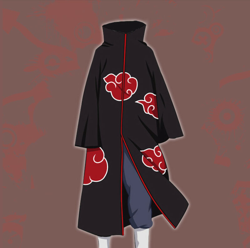 Naruto Akatsuki Tobi Uchiha Obito Robe Cloak  (M / Medium)