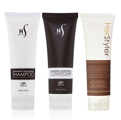 Herstyler Hair Care kit, Contains Heat Protective Cream, Shampoo and Conditioner
