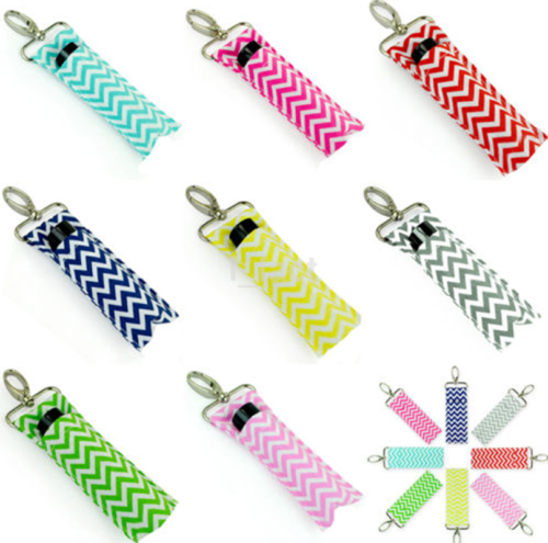 Cotton Wave Wristlet Lip Balm Key Ring Lipstick Key Chain Holder Gifts