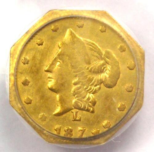 1871 Liberty California Gold Half Dollar 50C BG-926 R6 - PCGS AU - Rarity-6!