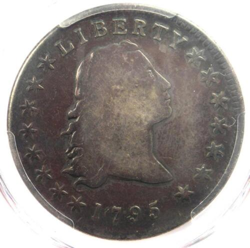 1795 Flowing Hair Silver Dollar ($1 Coin) - Certified PCGS VG Detail - Rare Coin