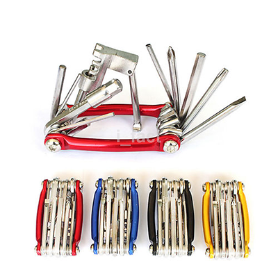 Brand New Multi-function Bicycle 11-In-1 Wrench Chain Cutter Repair Tools US
