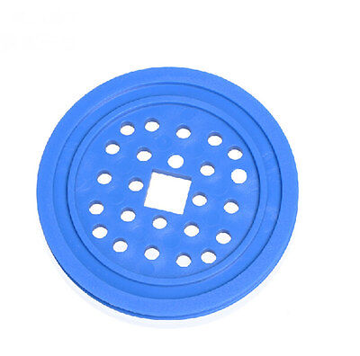 5pcs 72mm Blue Timing Pulley 12mm Square Hole Plastic Sheave Belt Pulley For Diy